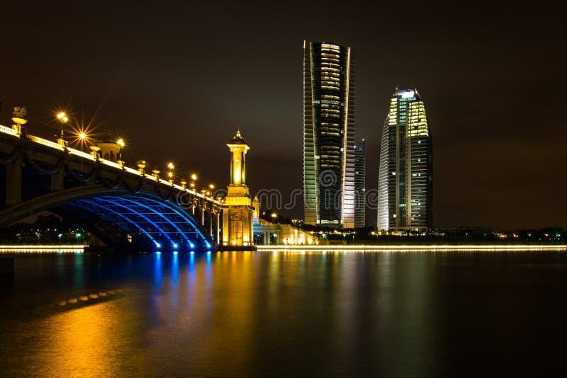 Seri Gemilang桥梁,布城 免版税库存图片