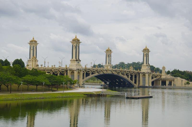 Seri Gemilang桥梁 库存照片