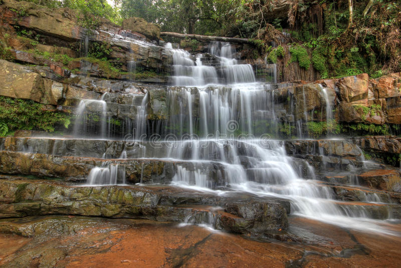 Seri Mahkota Endau Rompin Pahang-waterval royalty-vrije stock foto