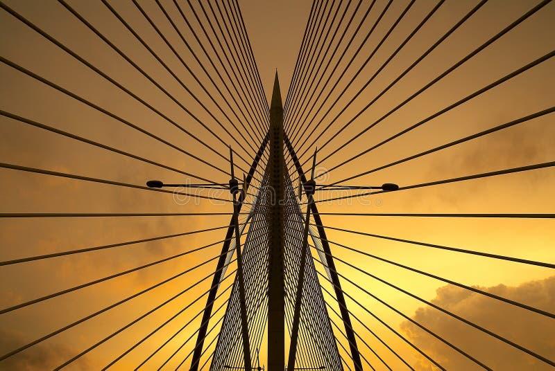 Seri Saujana桥梁在布城,马来西亚 库存图片