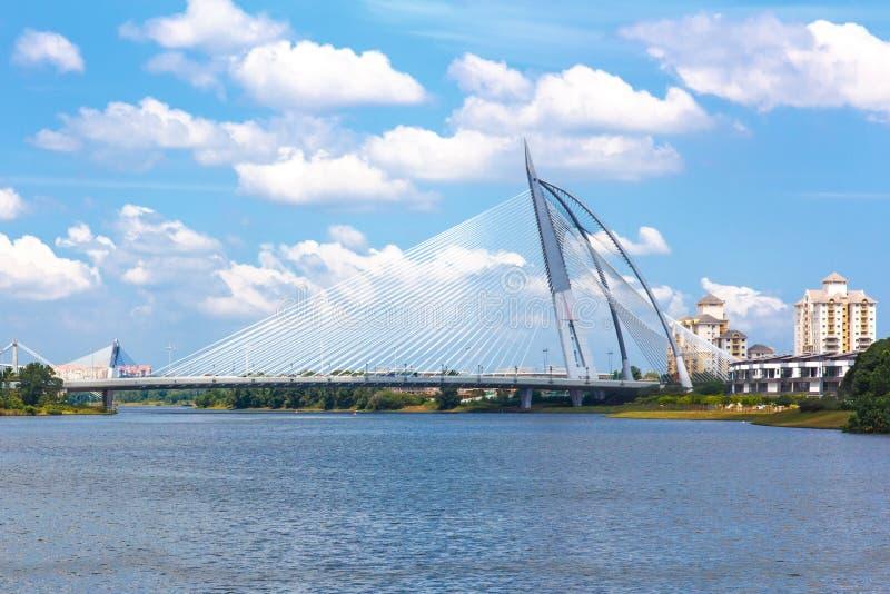 Seri Wawasan Bridge foto de archivo libre de regalías