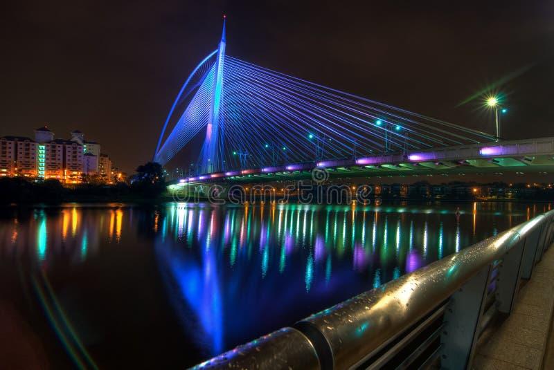Seri Wawasan Bridge Putrajaya arkivfoto