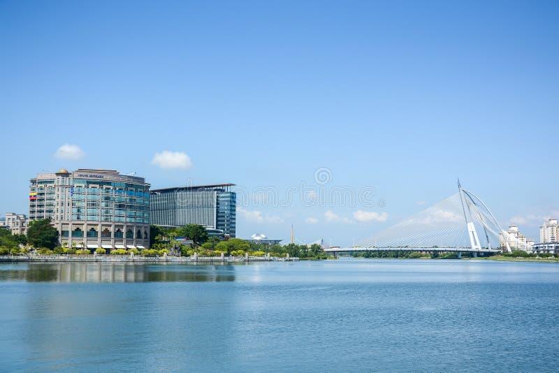 Seri Wawasan most, Putrajaya, Malezja obraz stock