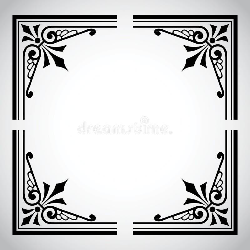 seria ramowy ornamentacyjny rocznik ilustracja wektor