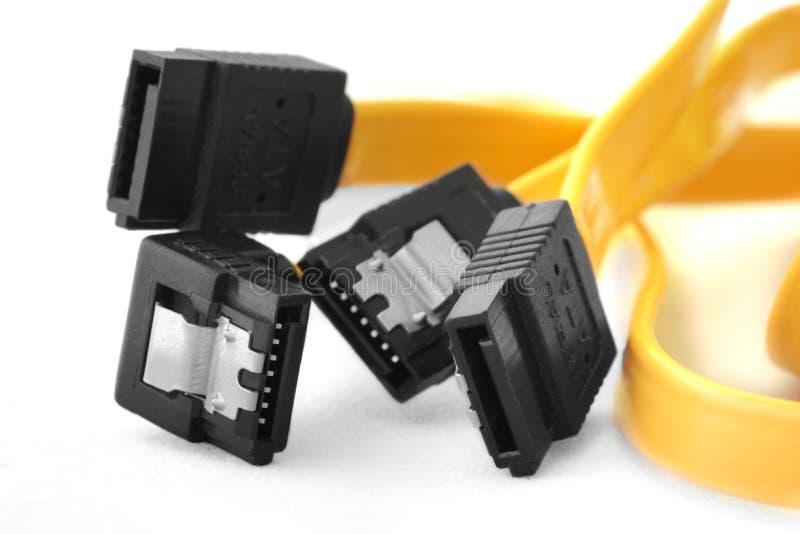 Serial ATA data cable and plug royalty free stock image