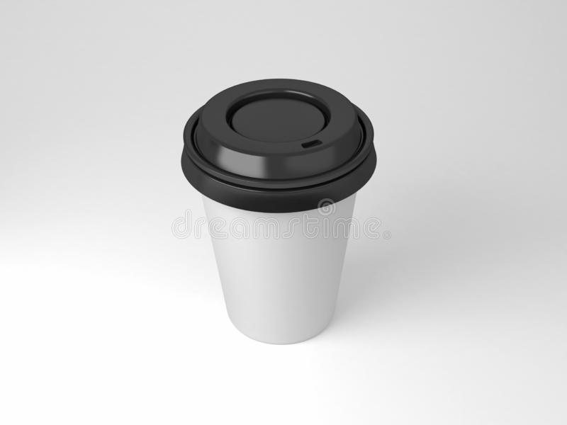 Serial image paper coffee cups for presentation logo or illustration stock photo