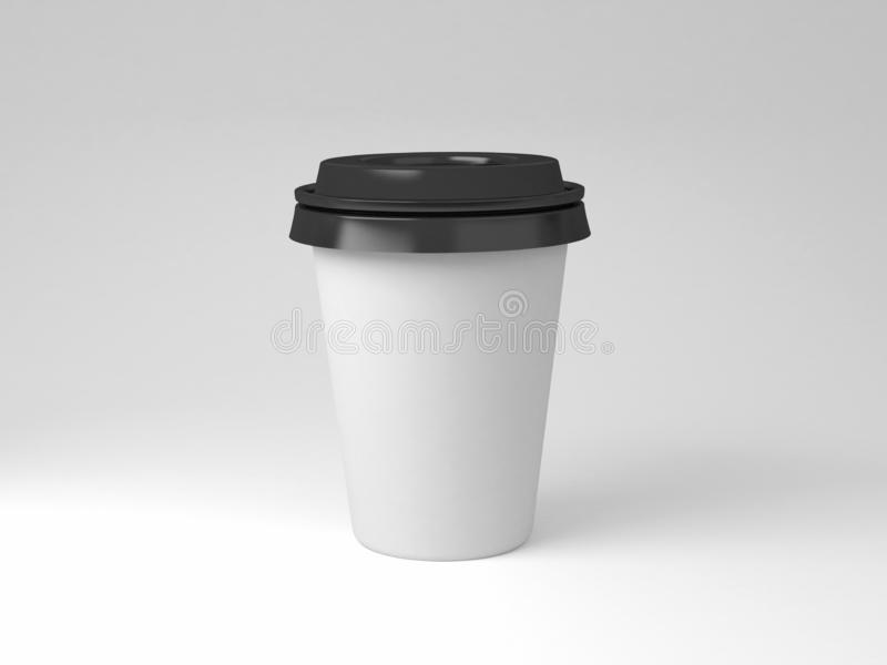 Serial image paper coffee cups for presentation logo or illustration stock photography
