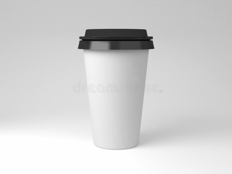 Serial image paper coffee cups for presentation logo or illustration royalty free stock photos