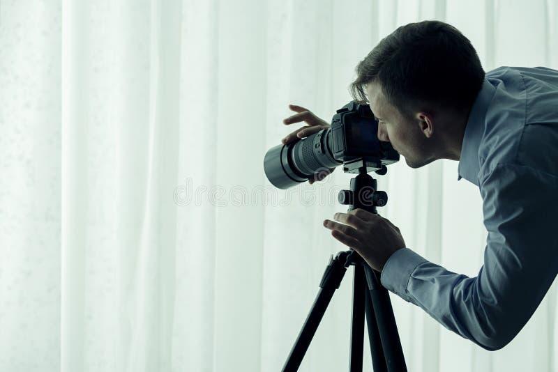 Serial killer watching victim royalty free stock photos