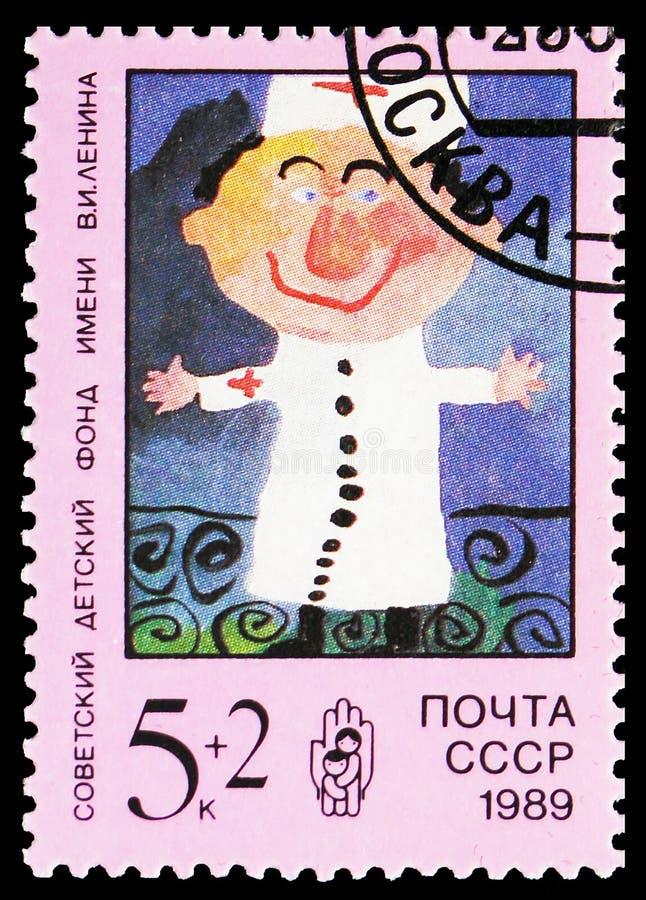 serie医生,列宁儿童的资金,大约1989年 库存图片