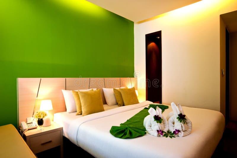 Serie 02 dell'hotel della camera da letto fotografie stock libere da diritti