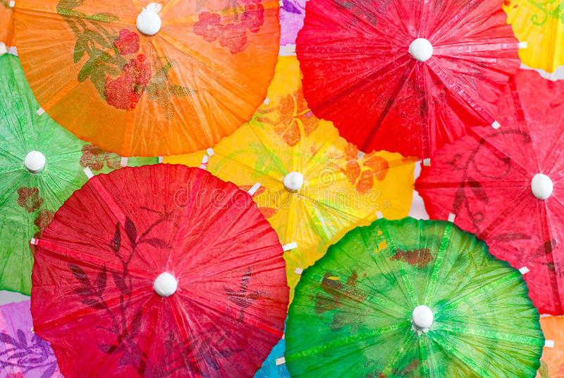 Serie 03 del paraguas del coctel imágenes de archivo libres de regalías
