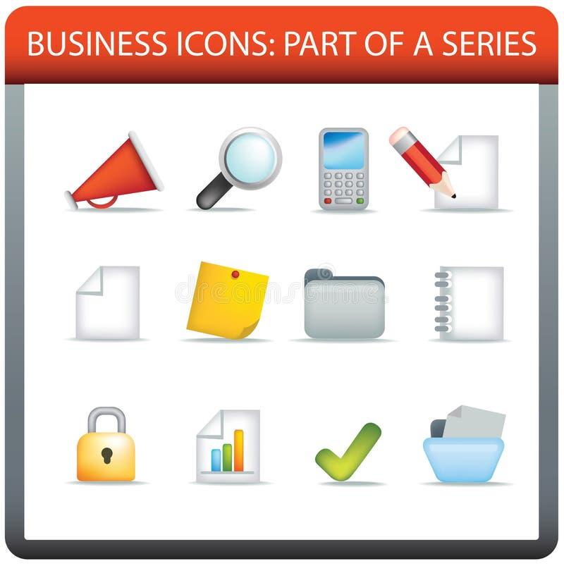 Serie 1 dell'icona di affari illustrazione vettoriale