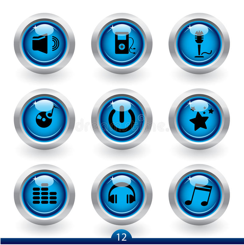 Serie 12 del icono - música stock de ilustración