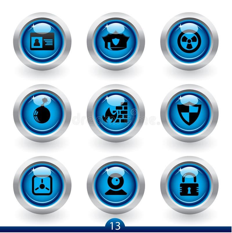 Serie 13 del icono - seguridad ilustración del vector