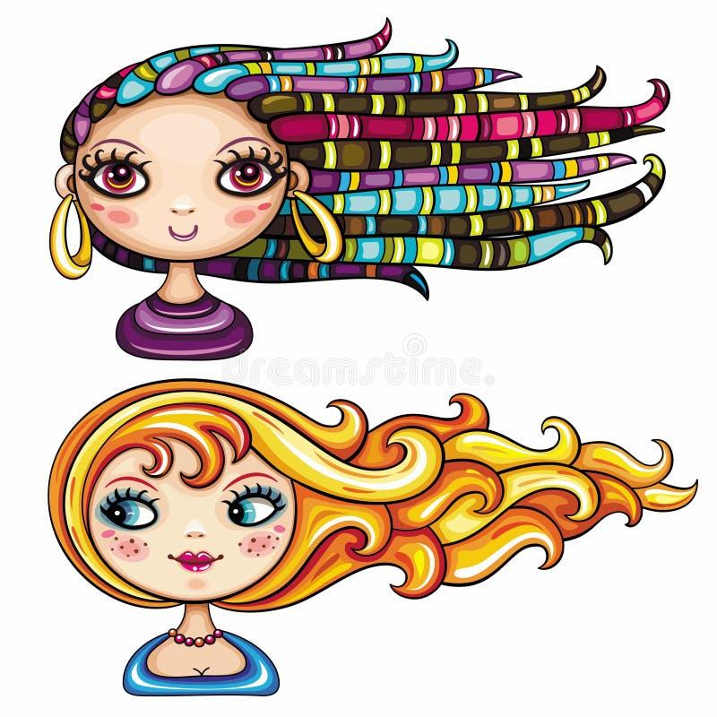 Serie 2 delle ragazze di modo royalty illustrazione gratis