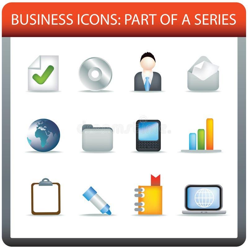 Serie 4 dell'icona di affari illustrazione vettoriale
