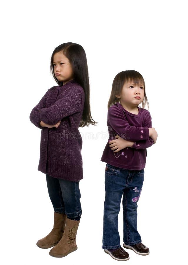 Serie 5 (fare il broncio) di infanzia fotografia stock libera da diritti