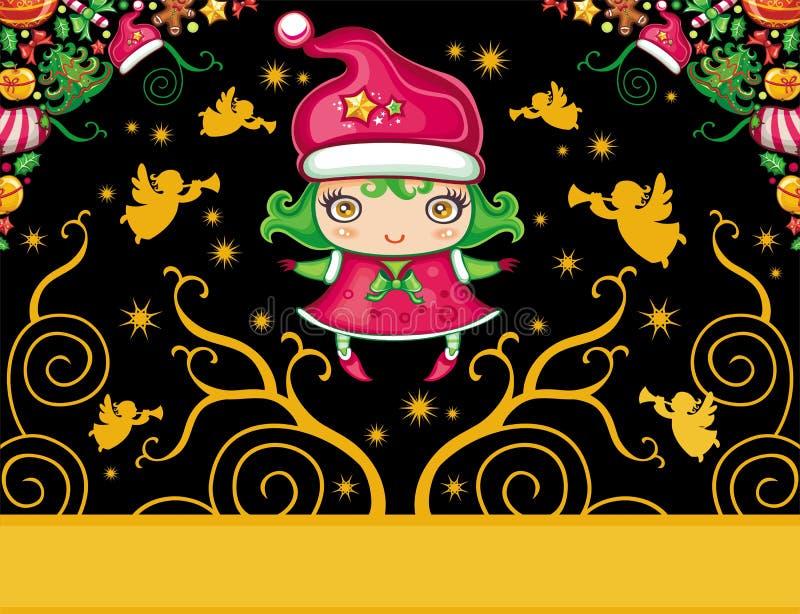 Serie 6 delle cartoline di Natale royalty illustrazione gratis