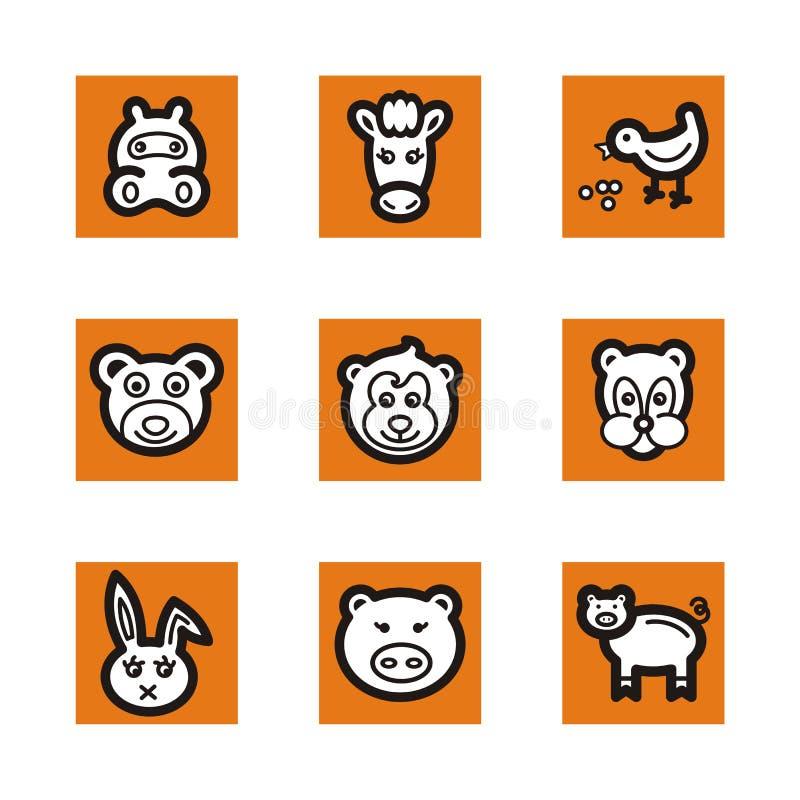 Serie anaranjada del icono ilustración del vector