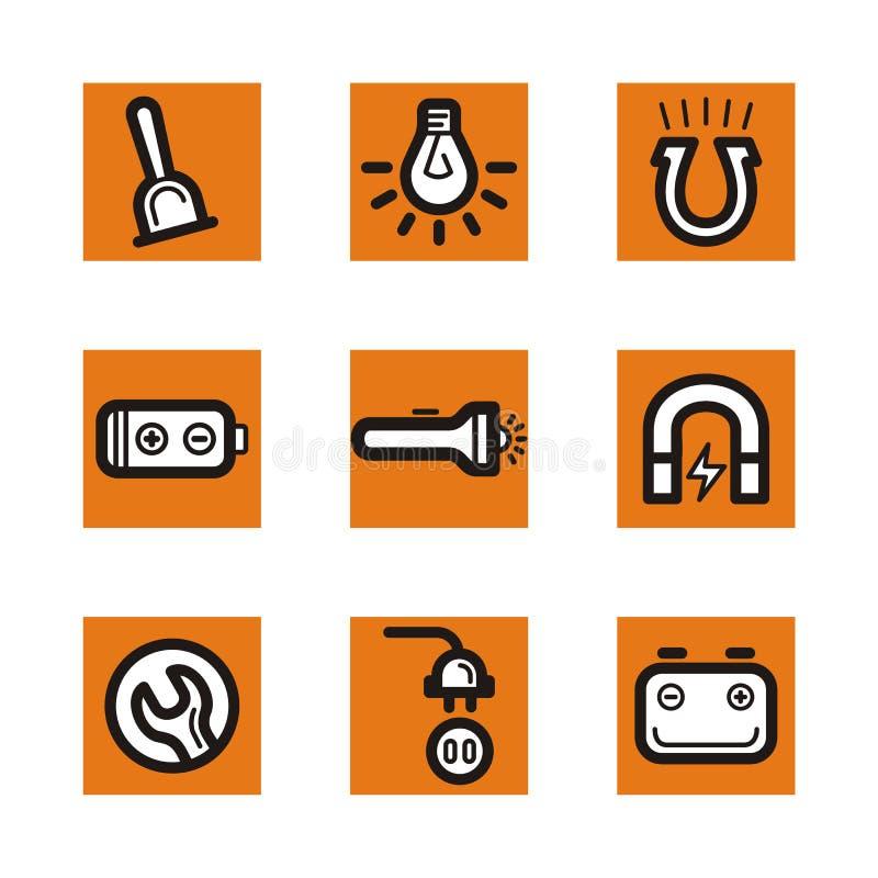 Serie anaranjada del icono stock de ilustración