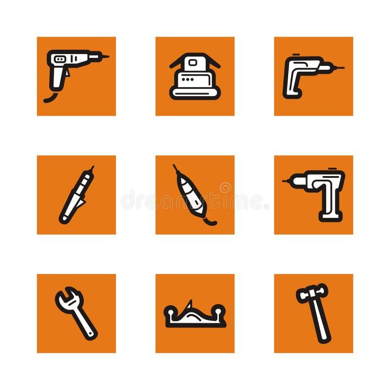 Serie anaranjada del icono libre illustration