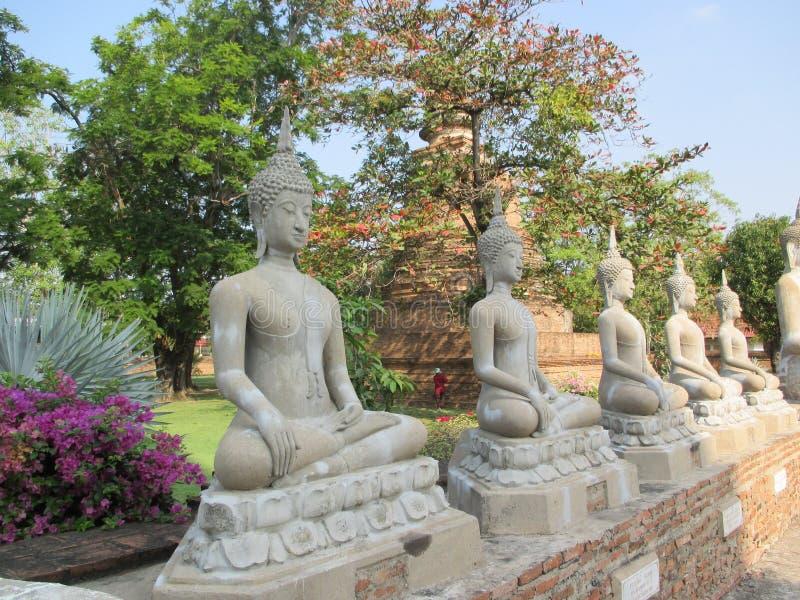 Serie antyczne Buddha wizerunku statuy obraz royalty free