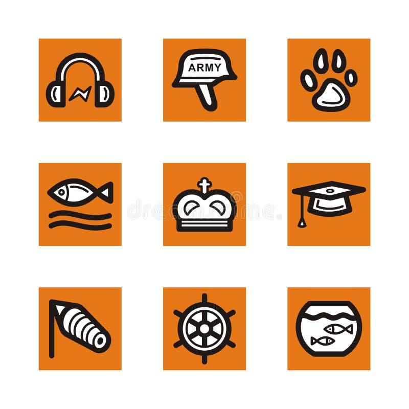 Serie arancione dell'icona royalty illustrazione gratis
