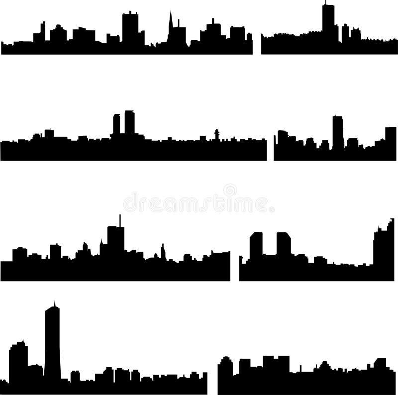 Serie asiática de las ciudades: Coreano stock de ilustración