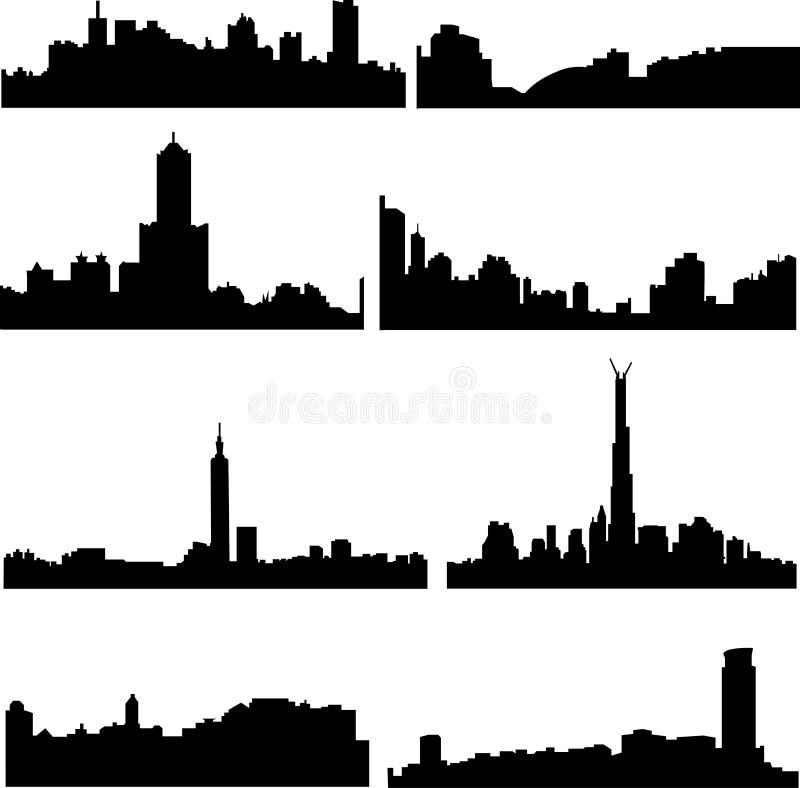 Serie asiática de las ciudades: Taiwán chino ilustración del vector