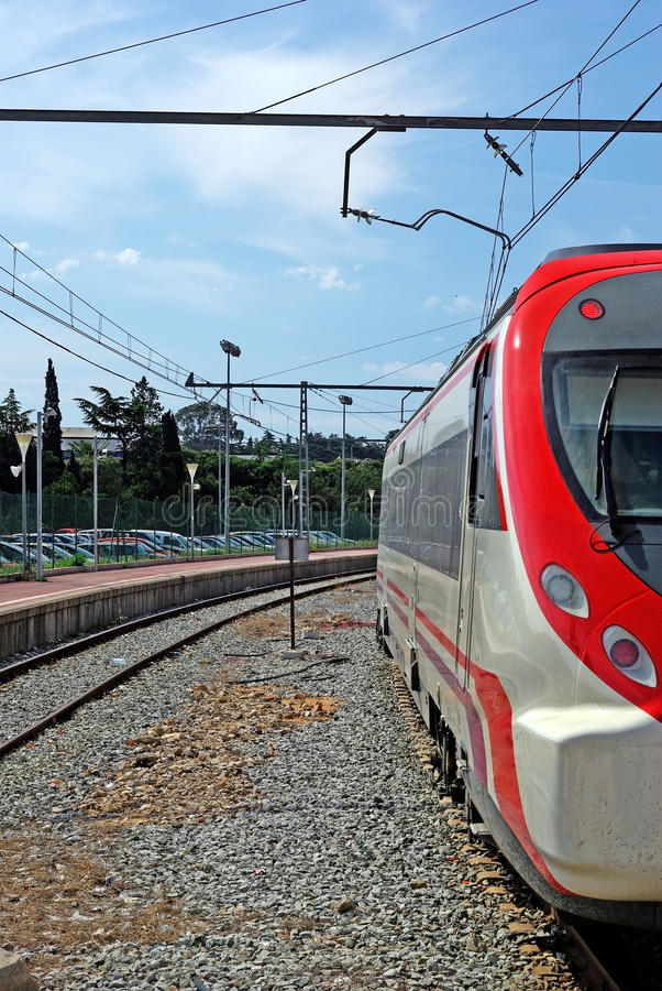 Serie auf Station. stockfotografie