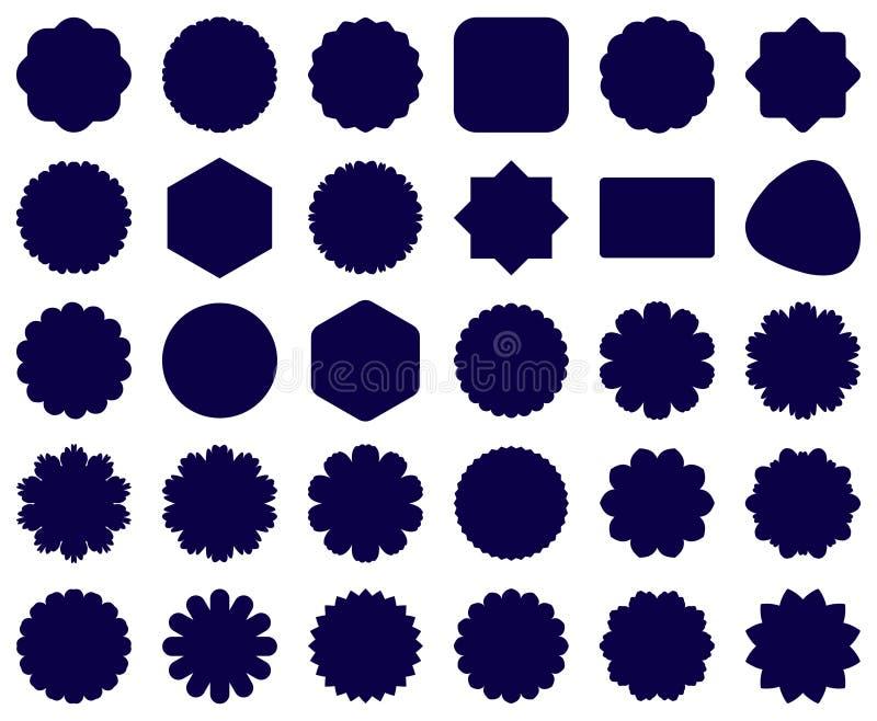 Serie av dekorativa symbolsbakgrunder stock illustrationer