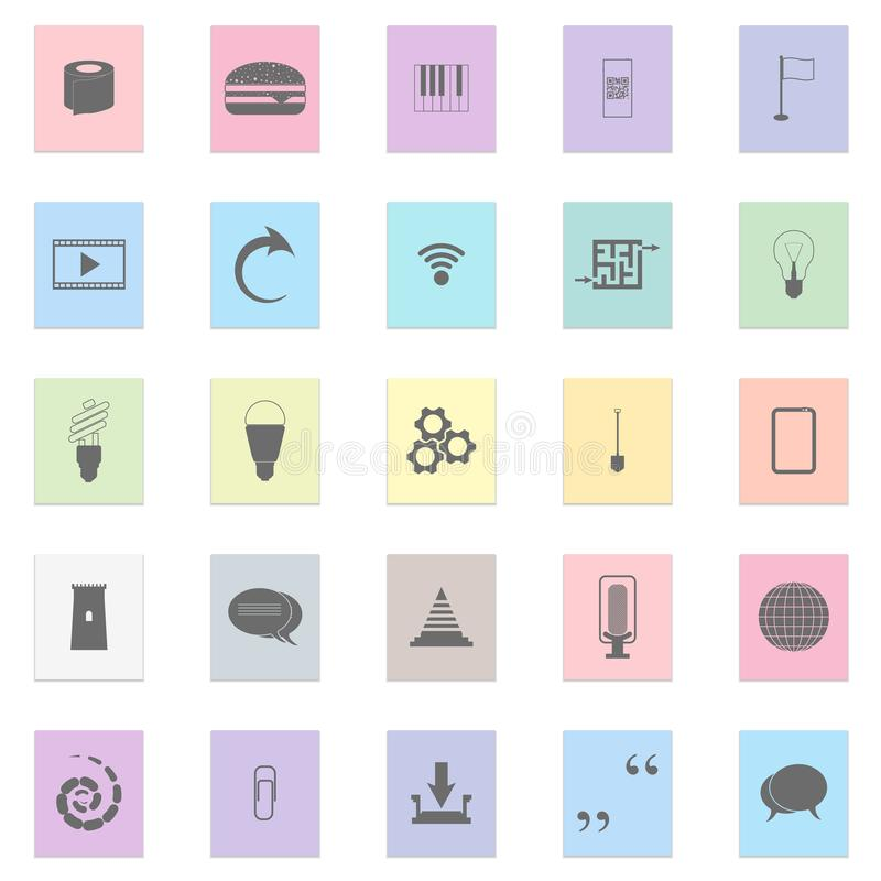 Serie av symboler royaltyfri illustrationer