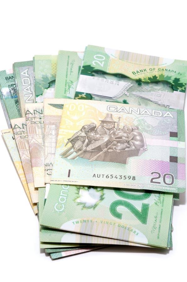 Serie av tjugo kanadensiska dollar arkivfoton