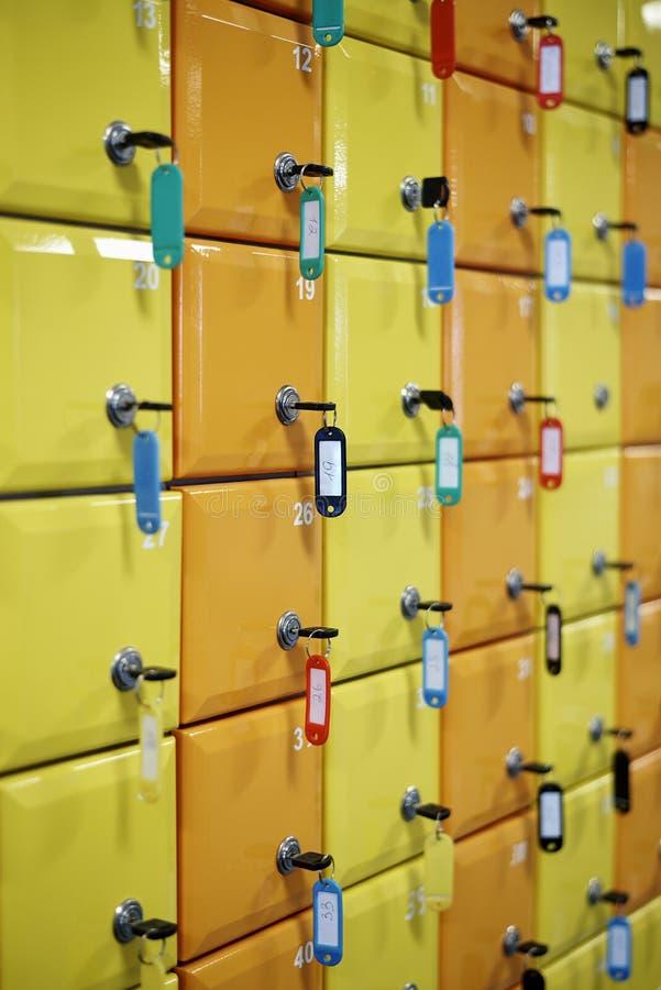 Serie barwiony, liczyć szafki obraz stock