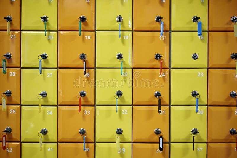 Serie barwiony, liczyć szafki zdjęcia stock