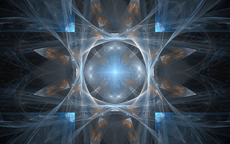 Serie central del diseño Contexto integrado por modelos radiales del fractal y ligero y conveniente para el uso en los proyectos  stock de ilustración