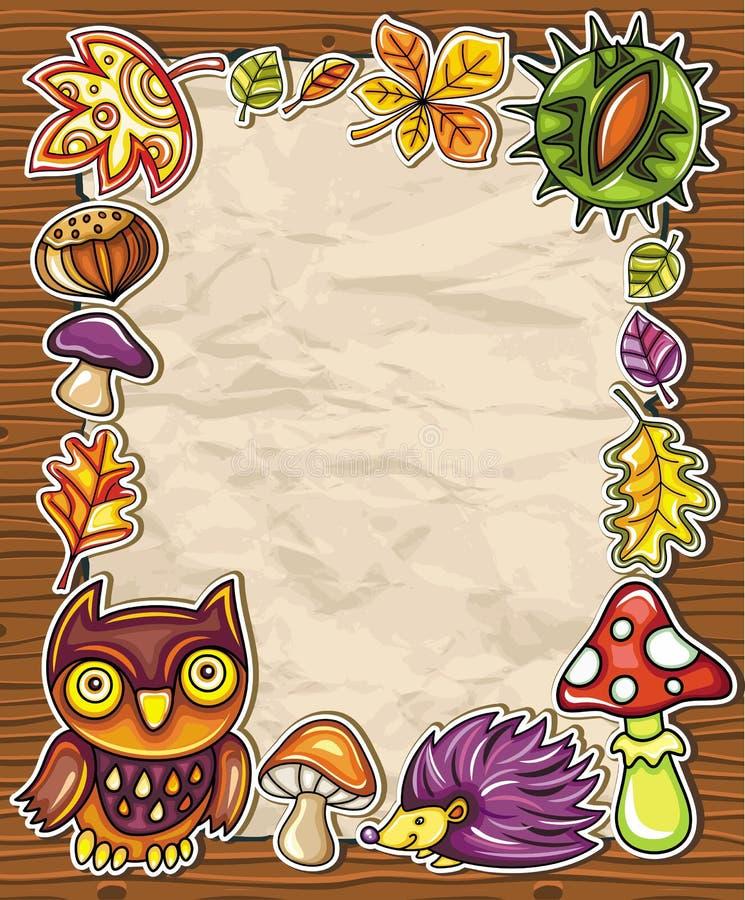 Serie d'autunno 3 del blocco per grafici royalty illustrazione gratis