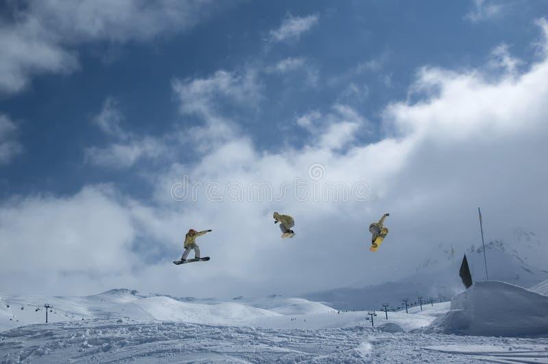 Serie d'un snowboarder photos stock