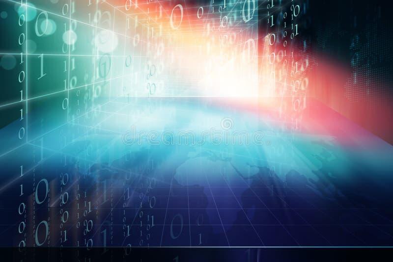 Serie de alta tecnología del concepto del contexto del estudio del mundo futurista imagen de archivo libre de regalías