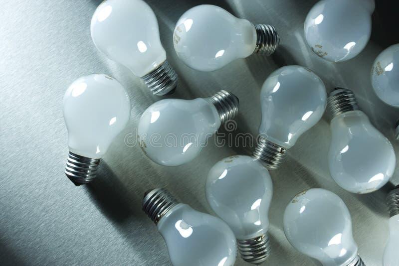 Serie de bombillas foto de archivo