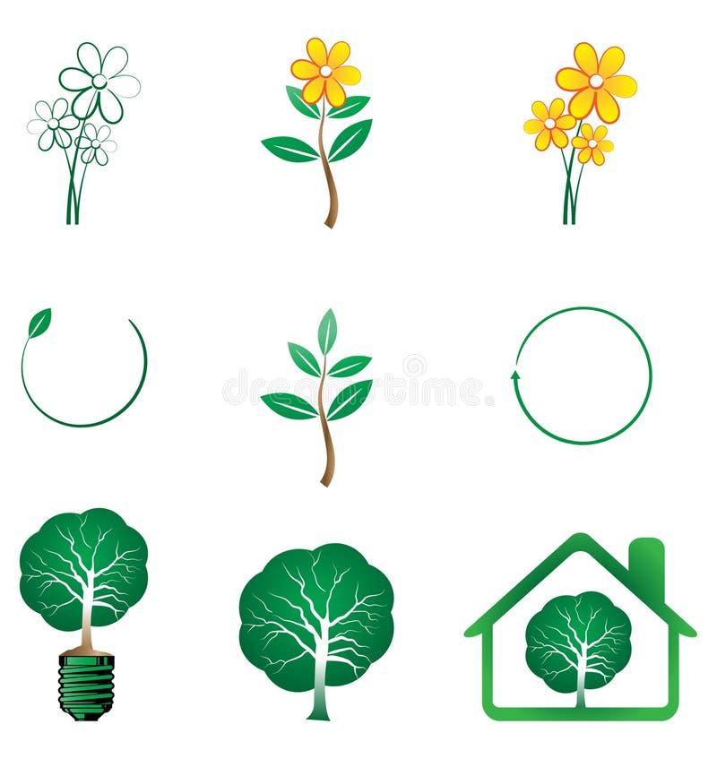 Serie de Eco ilustración del vector