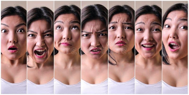 Serie de expresiones faciales imagen de archivo libre de regalías