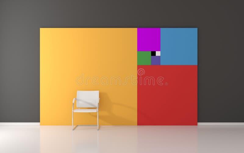 Serie de Fibonacci en la pared ilustración del vector
