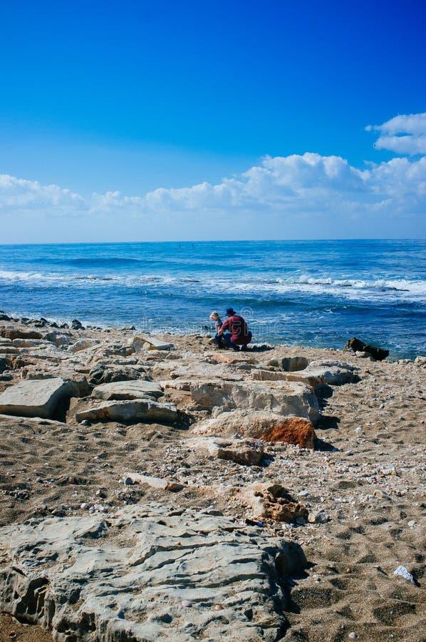 Serie de Holyland - playas 4 de Haifa imagen de archivo libre de regalías