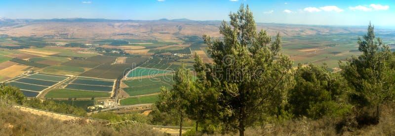 Serie de Holyland - valle Panoram de Hula foto de archivo libre de regalías