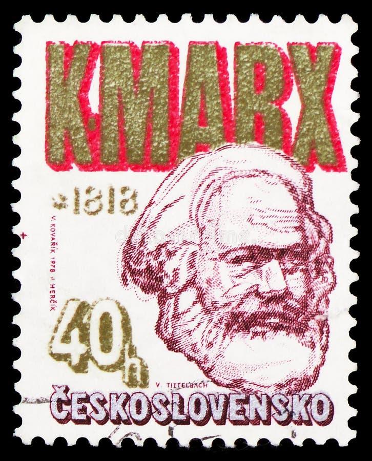 Serie de Karl Marx 1818-1883, de Zdenek Nejedly e de Karl Marx Anniversaries, cerca de 1978 imagens de stock