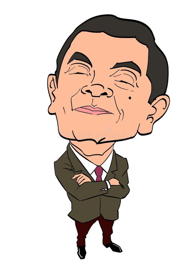 Serie de la caricatura - Sr. Bean stock de ilustración