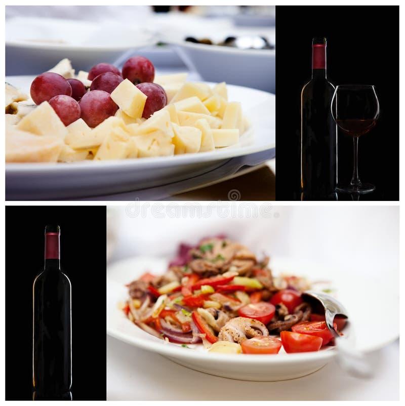 Serie de la comida italiano imagenes de archivo