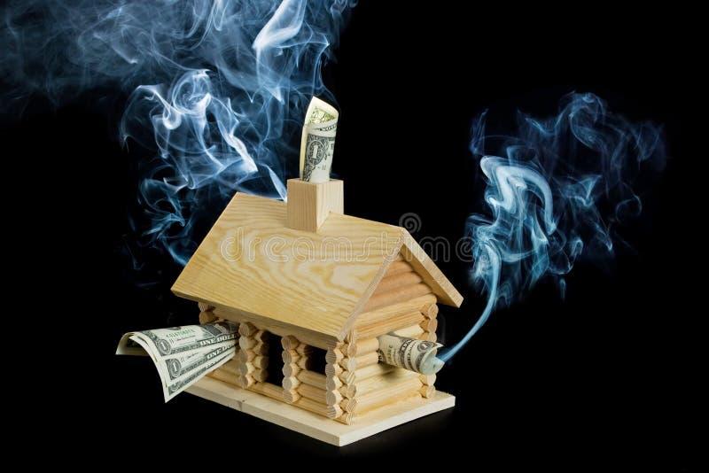 Serie de la crisis de la hipoteca imágenes de archivo libres de regalías